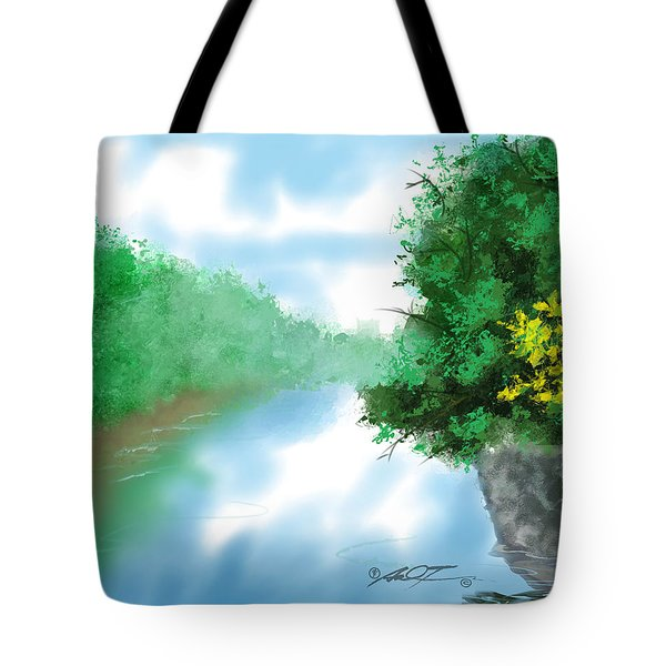 Calm River Tote Bag