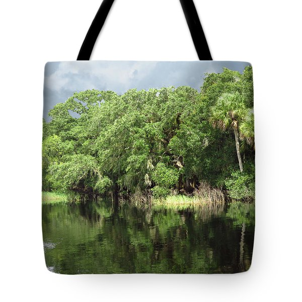Calm River Reflections Tote Bag by Rosalie Scanlon