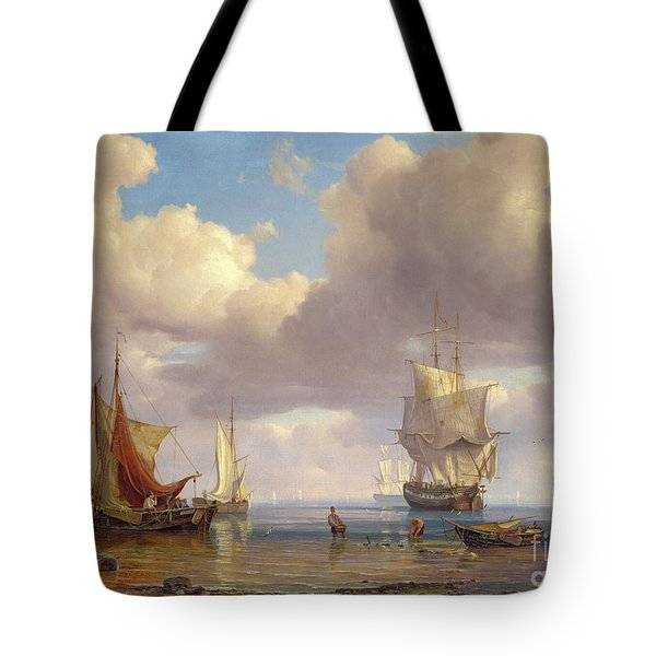 Calm Sea Tote Bag by Adolf Vollmer