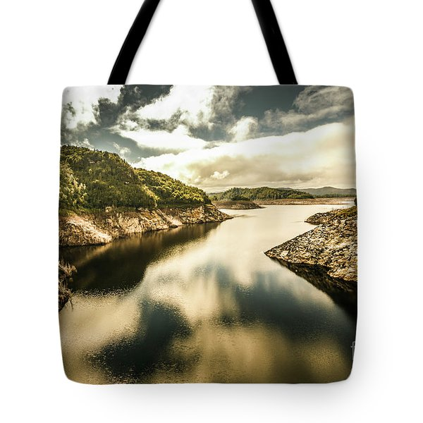 Calm Still Water Reflections Tote Bag