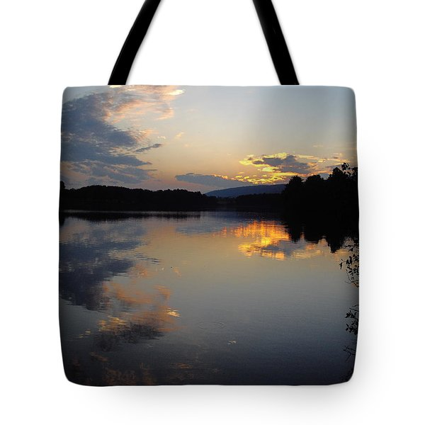 Tote Bag featuring the photograph Calm Sunset by Vilas Malankar