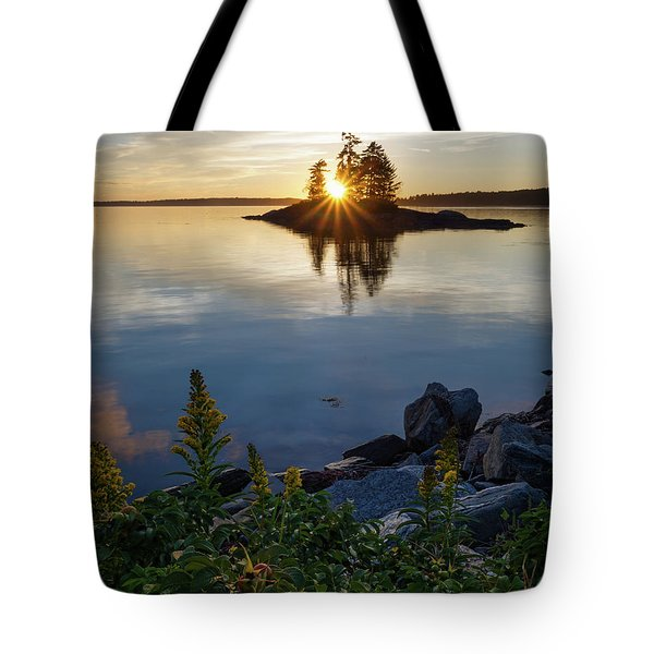 Calm Water At Sunset, Harpswell, Maine -99056-99058 Tote Bag