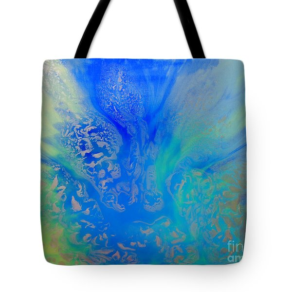 Calm Waters Abstract Tote Bag