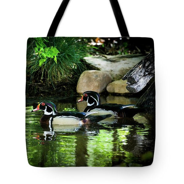 Calm Waters - Wood Ducks Tote Bag