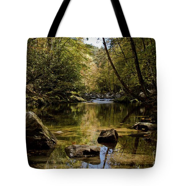Tote Bag featuring the photograph Calmer Water by Douglas Stucky