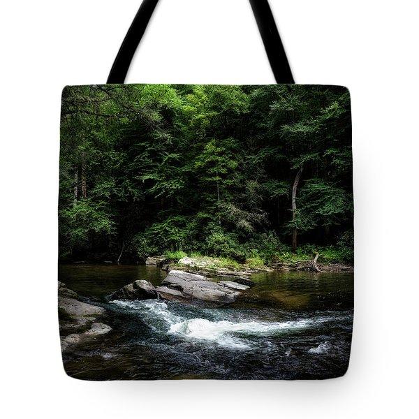 Calming Rapids Tote Bag