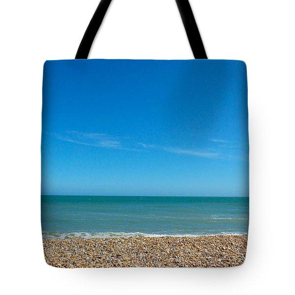 Calming Seaside View Tote Bag
