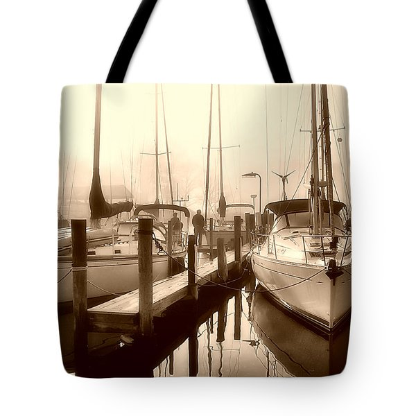 Tote Bag featuring the photograph Calmly Docked by Brian Wallace