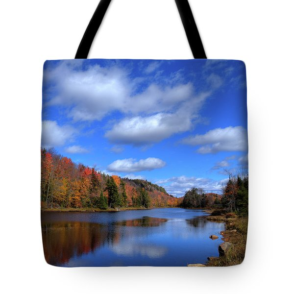Calmness On Bald Mountain Pond Tote Bag by David Patterson