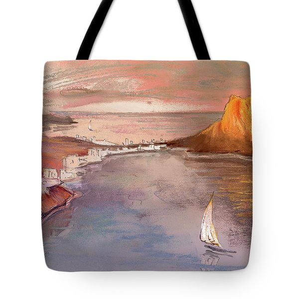 Calpe At Sunset Tote Bag