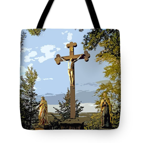 Tote Bag featuring the photograph Calvary Group - Parkstein by Juergen Weiss