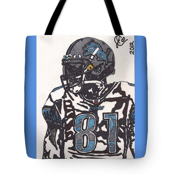 Calvin Johnson Jr 3 Tote Bag by Jeremiah Colley