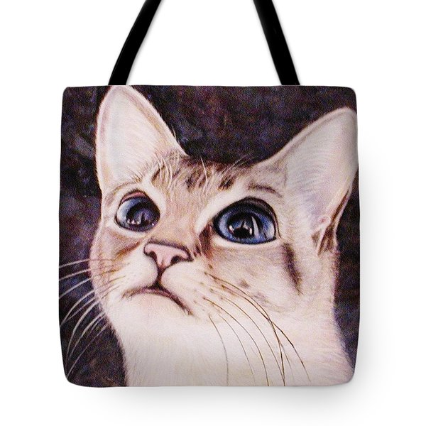 Calvin The Cat Tote Bag by Martha Ayotte