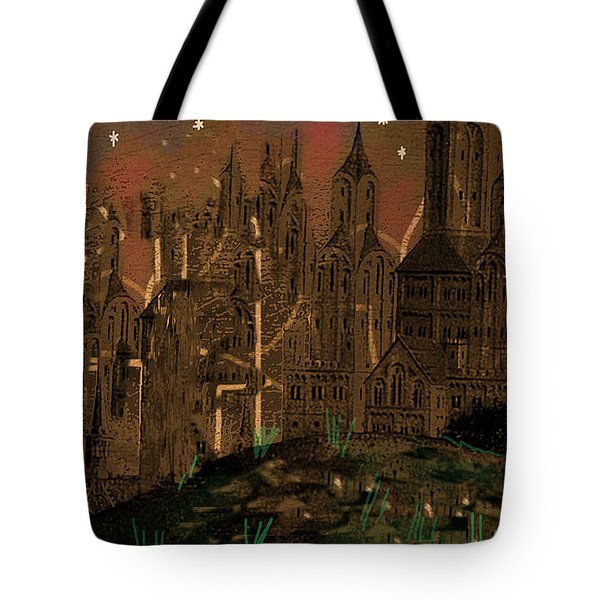 Calvino's Night...after Van Eyck Tote Bag