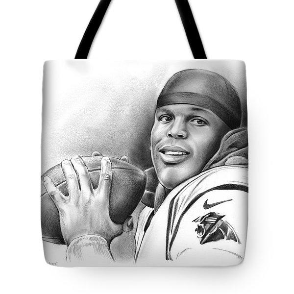 Cam Newton Tote Bag by Greg Joens