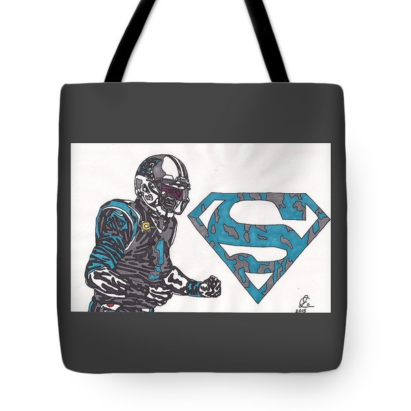 Cam Newton Superman Edition Tote Bag by Jeremiah Colley