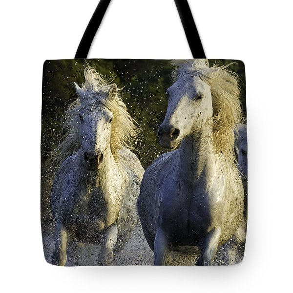 Camargue Spray Tote Bag by Carol Walker