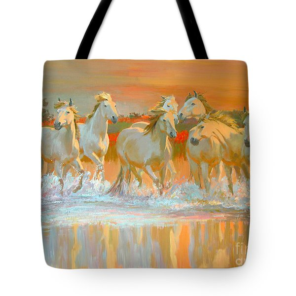 Camargue  Tote Bag by William Ireland