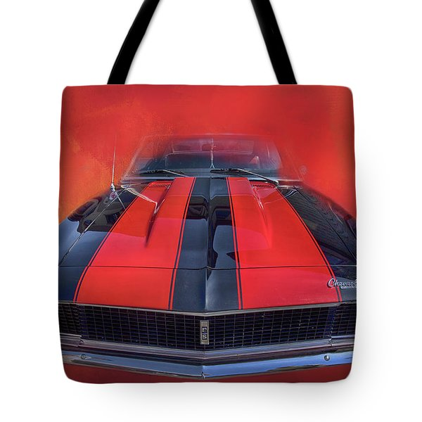 Tote Bag featuring the photograph Camaro - Forged By Fire by Theresa Tahara
