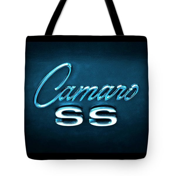 Tote Bag featuring the photograph Camaro S S Emblem by Mike McGlothlen