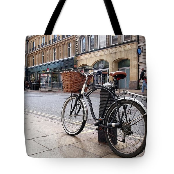 Tote Bag featuring the photograph The Wheels Of Justice - Cambridge Magistrates Court by Gill Billington