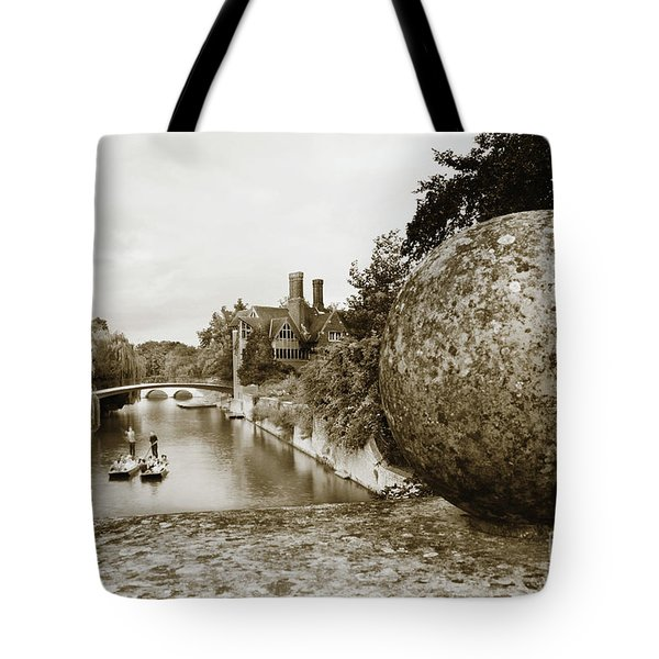 Cambridge Punting Sepia Tote Bag by Eden Baed