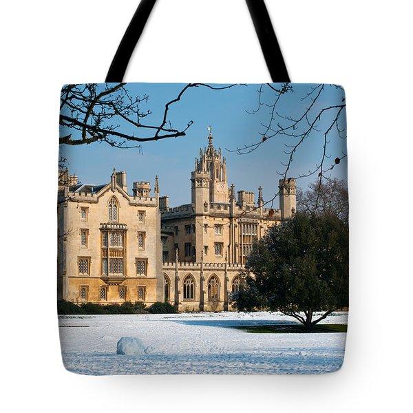 Cambridge Snowscape Tote Bag