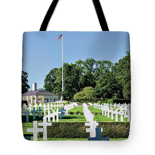 Cambridge England American Cemetery Tote Bag by Alan Toepfer