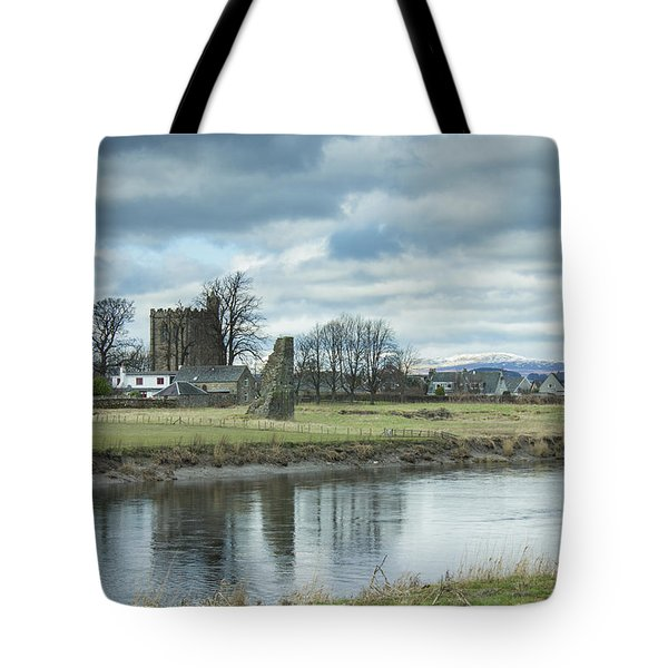 Cambuskenneth Abbey And The River Forth Tote Bag