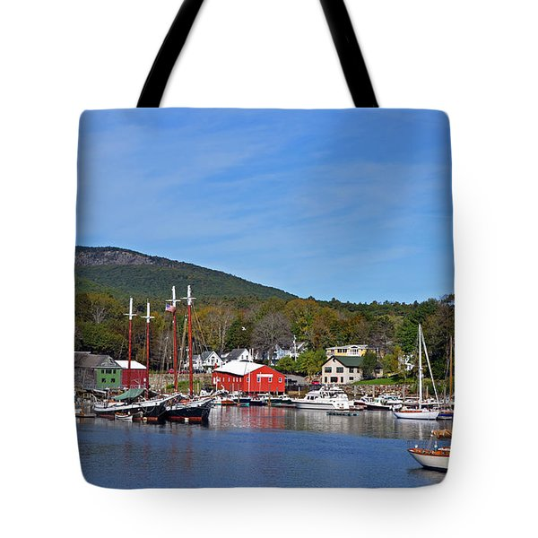 Camden Harbor Tote Bag by Corinne Rhode