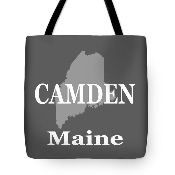 Tote Bag featuring the photograph Camden Maine State City And Town Pride  by Keith Webber Jr