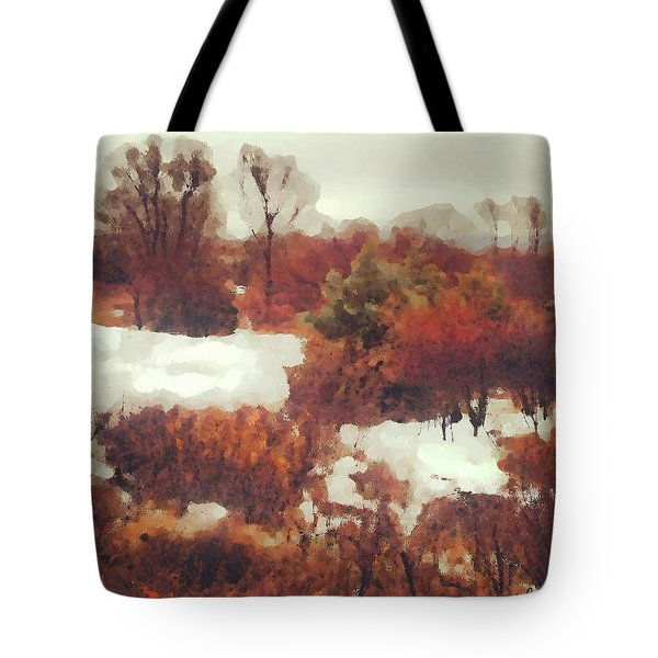 Came An Early Snow Tote Bag
