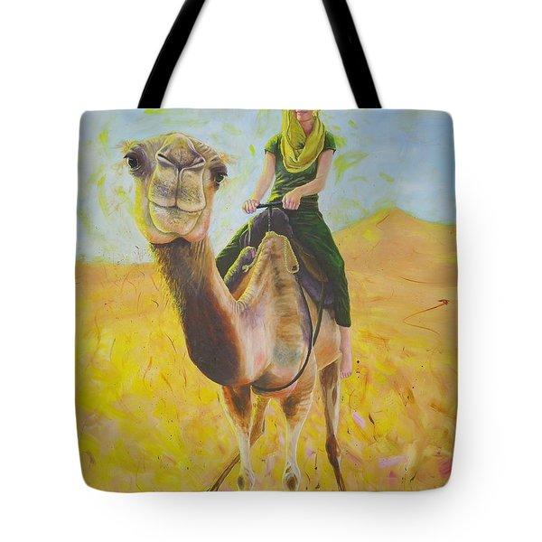 Camel At Work Tote Bag