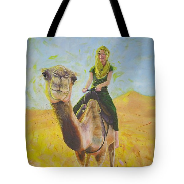 Camel At Work Tote Bag