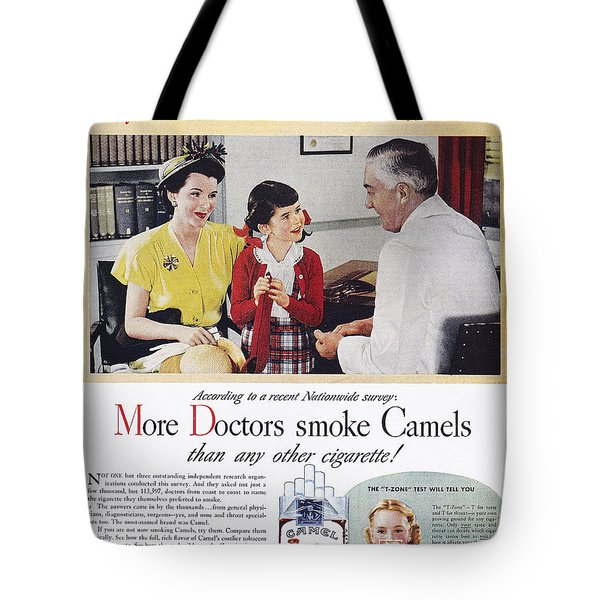 Camel Cigarette Ad, 1946 Tote Bag by Granger