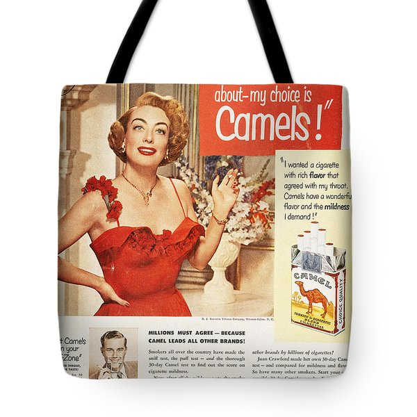 Camel Cigarette Ad, 1951 Tote Bag by Granger