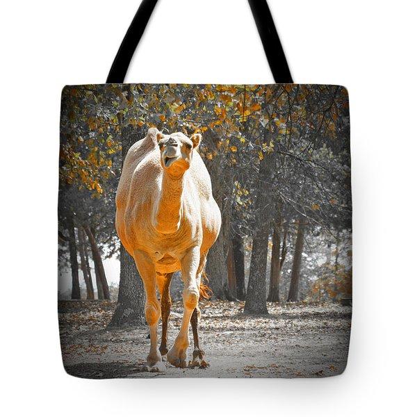 Camel Tote Bag by Douglas Barnard