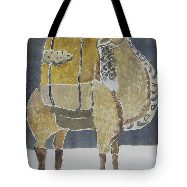 Camel Facing Right Tote Bag