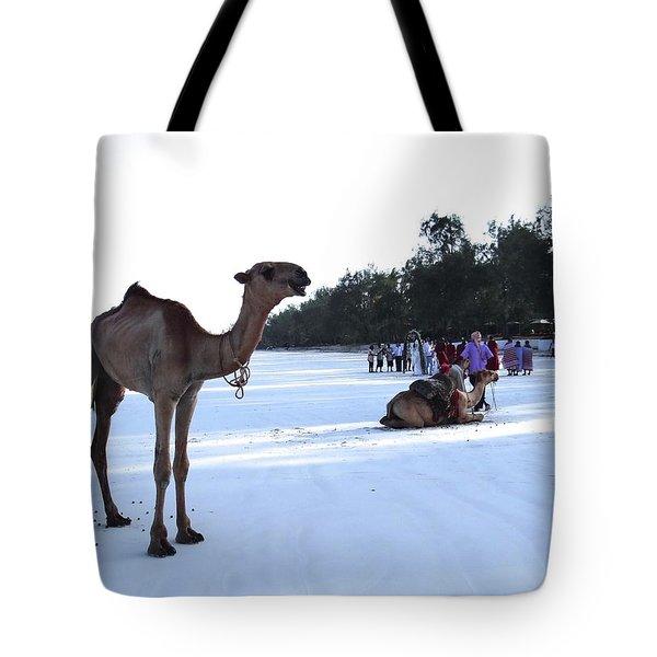 Camel On Beach Kenya Wedding 5 Tote Bag