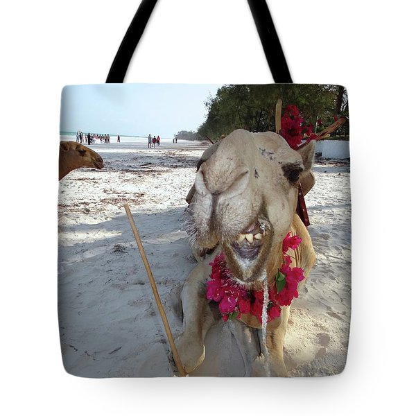 Camel On Beach Kenya Wedding2 Tote Bag
