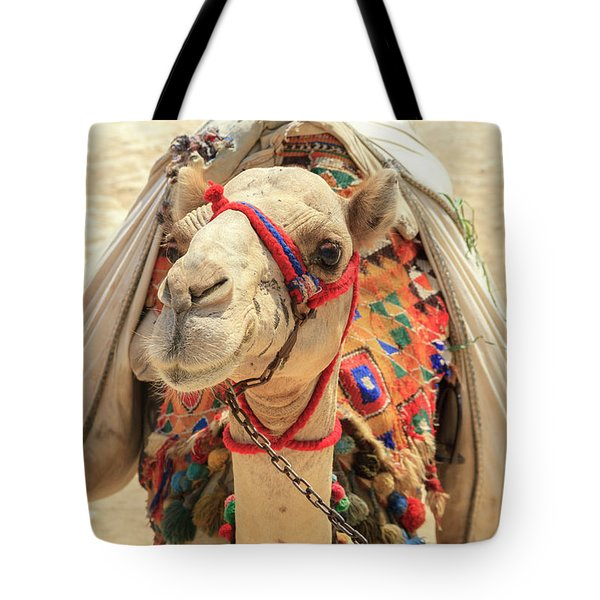 Tote Bag featuring the photograph Camel by Silvia Bruno
