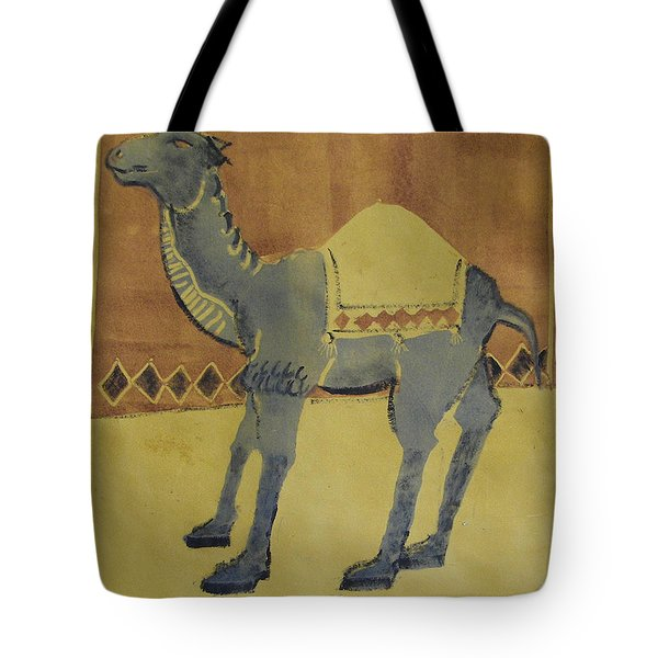 Camel With Diamonds Tote Bag