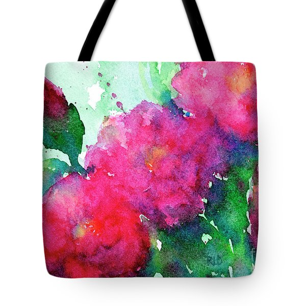 Camellia Abstract Tote Bag
