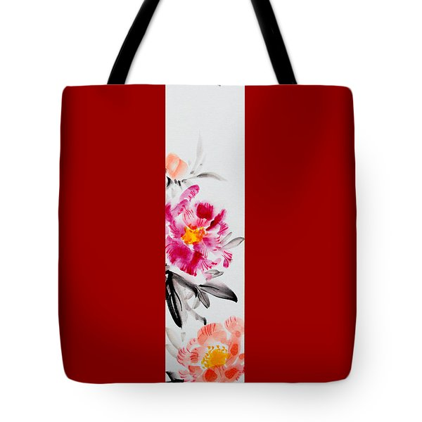 Camellia And Butterfly Tote Bag