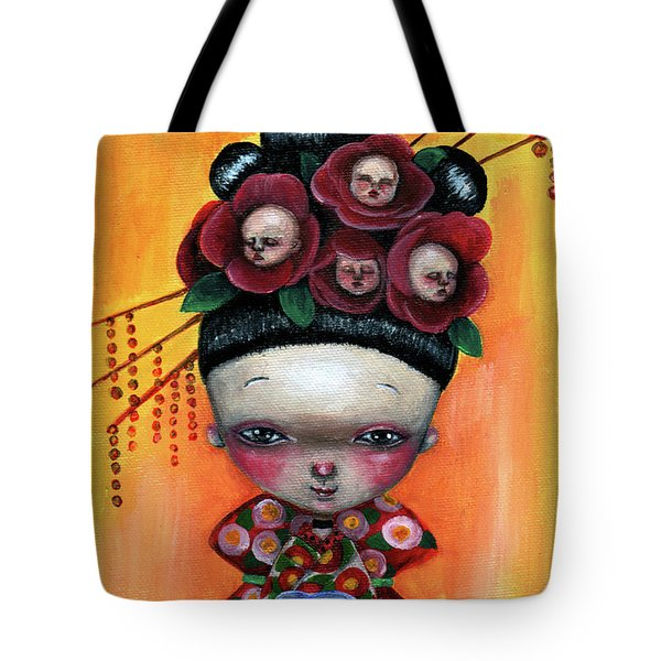 Camellia And Friends Tote Bag