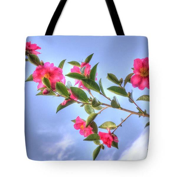 Tote Bag featuring the photograph Camellia by Elaine Teague