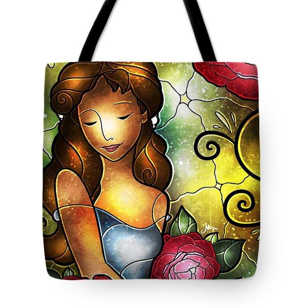 Lady Camellia Tote Bag