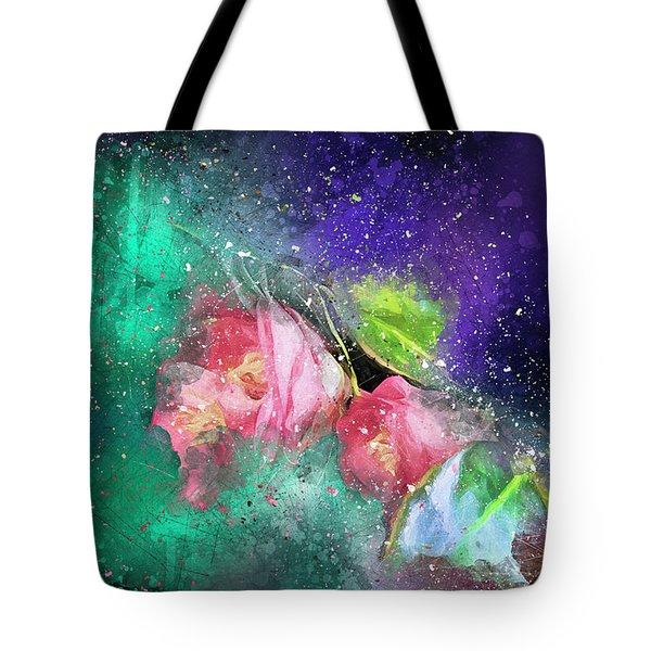 Camellias In A Galaxy Far Far Away Tote Bag