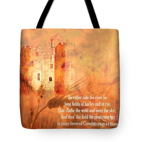 Tote Bag featuring the digital art Camelot 2017 by Kathryn Strick