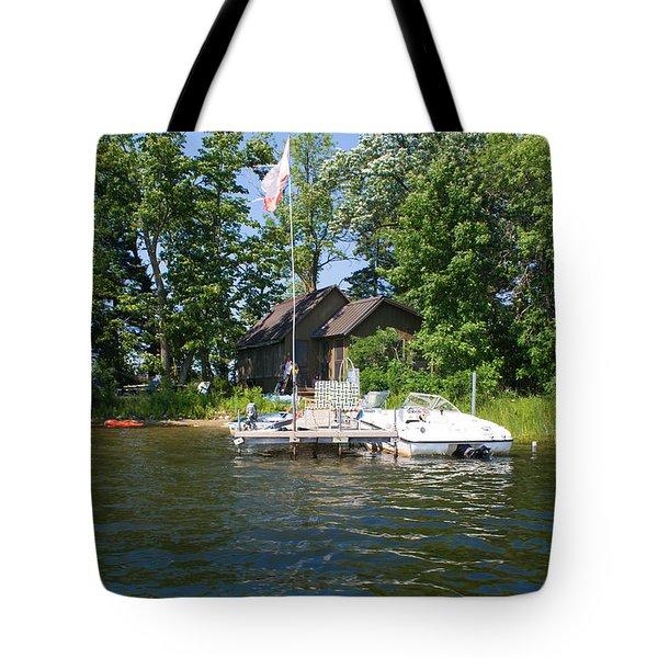 Camelot Island  Tote Bag